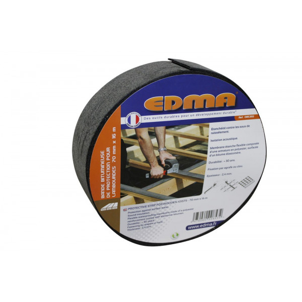 PROTECTIVE STRIP FOR WOODEN JOISTS - 80 mm x 16 m