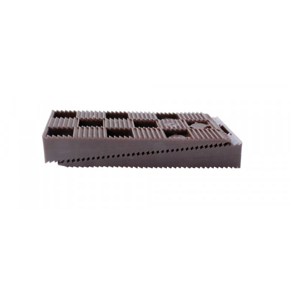 16 PCS BROWN WEDGES SET - 90 x 45 x 15 mm