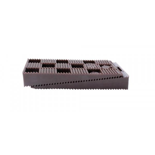 ABSTANDSKEILE-SATZ VERZAHNT BRAUN 16-tlg - 90 x 45 x 15 mm
