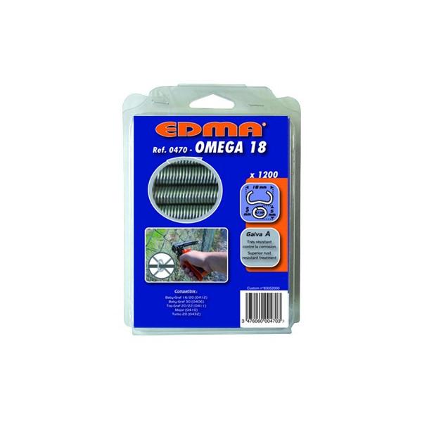 AGRAFES OMEGA 18 - Galva A - 1200 pcs