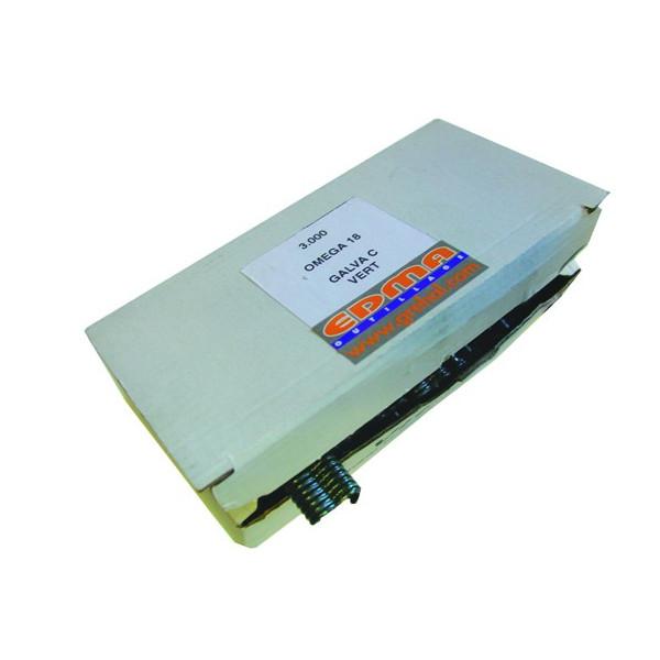 OMEGA 18 STAPLE - Galvanized green PVC coated - x 3000 pcs
