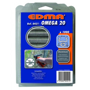 AGRAFES OMEGA 20 - Aluminium - 1000 pcs