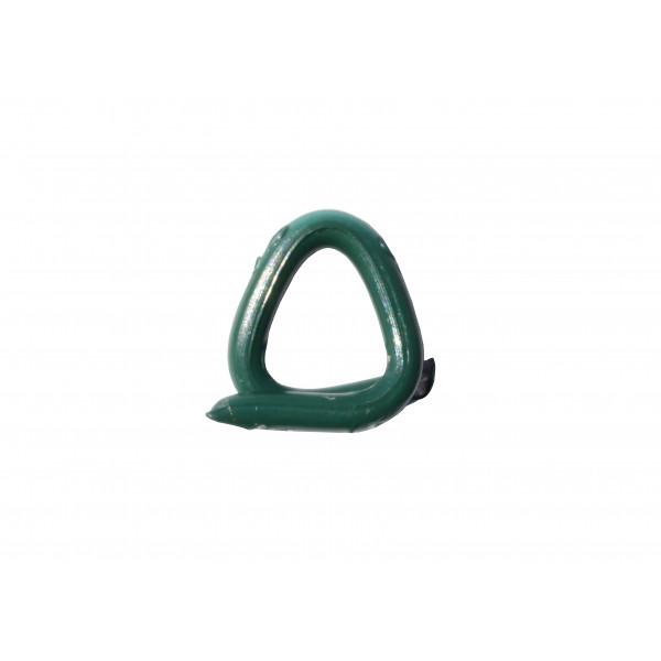 AGRAFES DELTA 22 - Galva plastifié vert - 1000 pcs