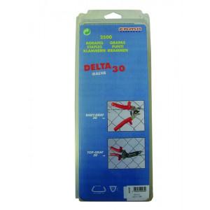 AGRAFES DELTA 30 - Galva A - 2500 pcs