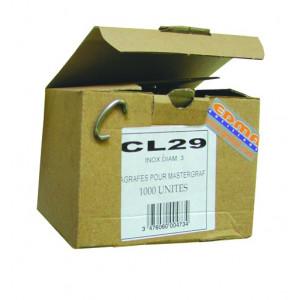 GRAPAS CL 29 - Inox AISI 304 - 100 uds.