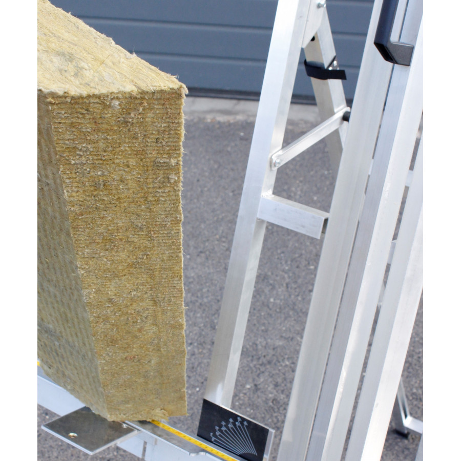 Mineral wool cutting table edma for Mineral wool insulation weight