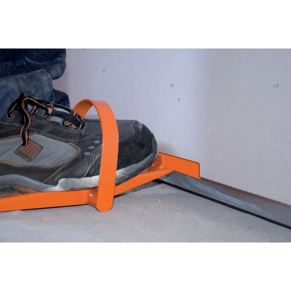 EDMA FOOTPLAC - Levier à plaque avec étrier en acier