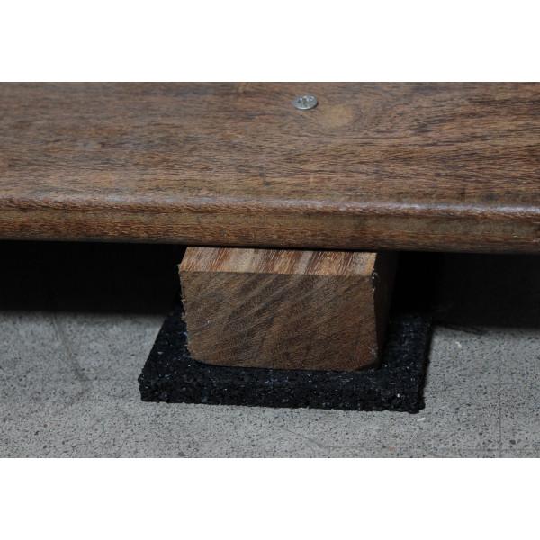 24 Stück Terrassen Pads für Holzterrasse 78x78x8 mm