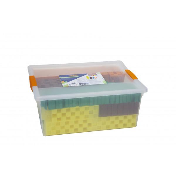 PROBOX VON 245 ABSTANDSKEILEN VERZAHNT - 60 orange, 70 grün, 75 braun, 40 gelb