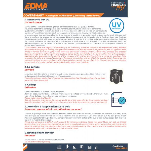 COVERSMART 120 - Film de protection ajustable 120 cm adhésif intégré