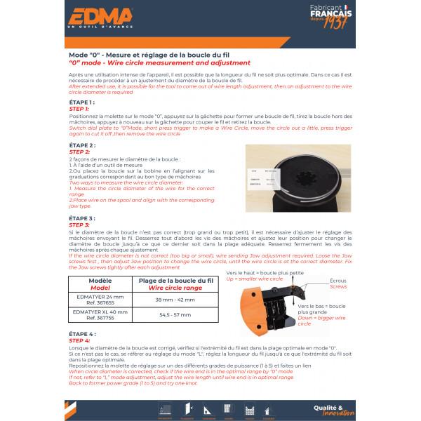 EDMA EDMATYER - Lieur sans fil 24 mm pour fers à béton