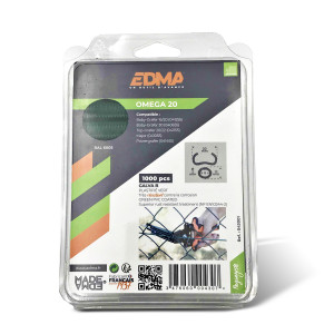 OMEGA 20 STAPLES - Galva green PVC coated - 1000 pcs