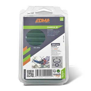 OMEGA 16 STAPLES - Galva green PVC coated - 1250 pcs