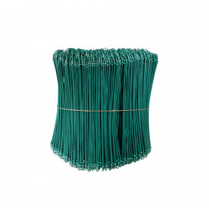 1000 LIENS À BOUCLES GALVA PLASTIFIÉS VERTS - Ø 1,4 mm x 200 mm