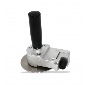 DISK ROLLER WITH RETRACTABLE STOPPER - Tool to make bends from 90° to 180° maximum