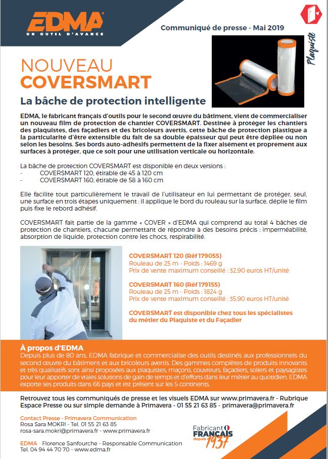 COVERSMART, LA BACHE DE PROTECTION INTELLIGENTE
